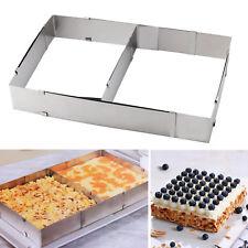 Backrahmen Kuchenform eckig 5 cm Hoch Torten Edelstahl Verstellbar【DE】