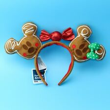 US Ship Ears Rare Christmas Holiday Gingerbread Minnie Girl Disney Park Headband