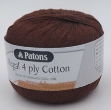 Patons Regal Cotton 4 Ply #7346 Chocolate 50g