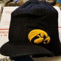 Iowa Hawkeyes billed Beanie Hat College Winter Hat NCAA  Cap