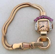 Antique or Vintage ROLEX ? 14K Rose Gold Ladies Watch w/ Ruby & Diamond, 25g