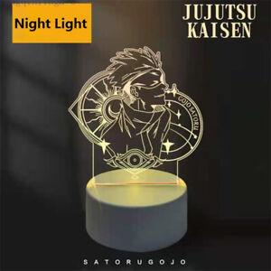 Anime Jujutsu Kaisen LED Night Light Satoru Gojo 3 Color Change Table Lamp Gift