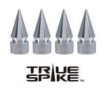 4 TRUE SPIKE CHROME SPIKED TPMS WHEEL AIR VALVE STEM COVER CAP FOR NISSAN