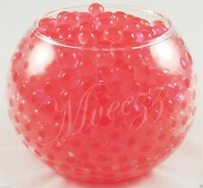 400 Water Beads Crystal Bio Soil GEL Ball Wedding Vase Vase Filler Party Coral Red