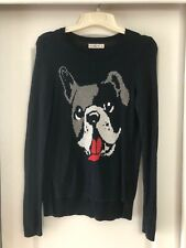 ABERCROMBIE & FITCH French Bulldog Knit Sweater SIZE M