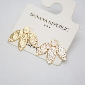 Banana Republic Jewelry Gold Plated Birds Swallow Earrings Pierced Stud Hammered