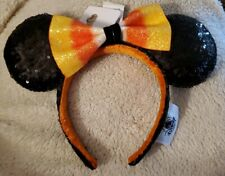 NEW 2019 Disney Parks Halloween Candy Corn Bow Minnie Ears Headband