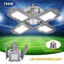 150W LED Garage Light Bulb Deformable Ceiling Fixture Shop Workshop Lamp US
