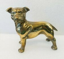 More details for  brass staffordshire bull terrier, figurine,sculpture,dog,ornament, vgc, heavy.