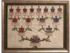 Aufschwörungstafel GRAF JACOB FRIEDRICH VON ROHDEN 1755, Wappen, Stammbaum, Adel