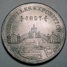 BELGIUM, BRUXELLES EXPOSITION 1897 CALENDAR Medal 38mm 6g Aluminium.