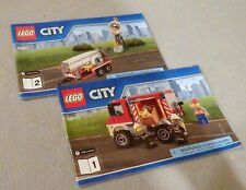 LEGO CITY Instruction Manual only #60111 Fire Utility Truck--Bks. 1-2