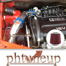 BLUE 2004-2008 CHEVY AVEO 1.6 1.6L BASE LS LT COLD AIR INTAKE KIT + RED FILTER