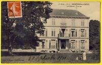 cpa de 1911 RARE 55 - MONTIERS sur SAULX (Meuse) Le CHÂTEAU Côté Est Animée