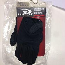 Hatch SGK100FR Street Guard Glove with Kevlar FR (Black, X-Small)