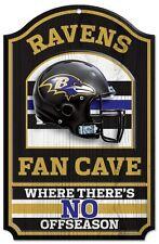 "Baltimore Ravens 11x17"" Wood Sign Fan Cave Design"