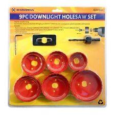 Circolare 9pc Foro dente visto LEGNO CARTONGESSO PLASTICA Down Luce Set Cutter Taglio