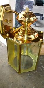 Solid Brass Exterior Light Fixture