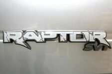 Vinyl Decal Graphics Tailgate Emblem Inlay for 10-14 F150 Raptor SVT Matte White