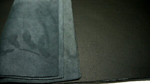 """Large  Leather panels 4 pieces Top Quality 18"""" x 24"""" BLACK"""