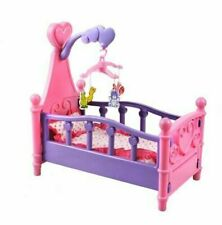 Kids Baby Doll Bed 3 in 1  Crib Mobile & Linen Roll Play Xmax Gift Set Girls fun