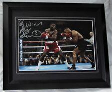 More details for frank bruno signed boxing v mike tyson framed  aftal seller #199