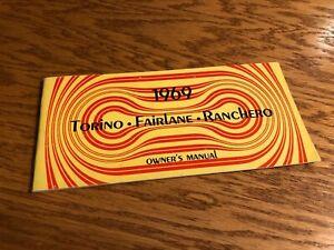 1969 FORD car owners manual TORINO - FAIRLANE - RANCHERO