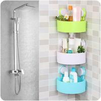 Bathroom Corner Storage Shower Rack Shelf Organiser Basket Cup Tidy With Suction