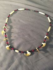 Native american made Bobcat claw necklace real claw Mountain Man rendezvous