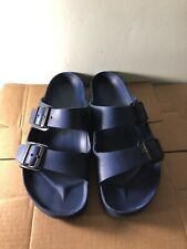 Birkenstock Arizona Navy Blue Rubber Waterproof Sandals Men's Size 42 US 9-9.5