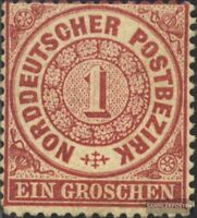Norddeutscher Postbezirk 16 fein (B-Qualität) gestempelt 1869 Groschen