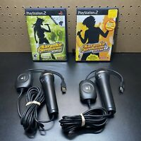 Sony Playstation 2 Karaoke Revolution Vol 3 & Party Games +(2)Konami Microphones