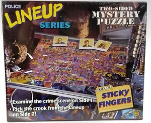 POLICE LINEUP SERIES Two Sided 513 pc Mystery JIGSAW PUZZLE Sticky Fingers NOS