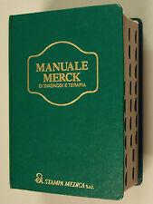 MANUALE MERCK DIAGNOSI TERAPIA Seconda edizione italiana 1990 Medicina