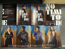 NO TIME TO DIE Japan flyer 8 sides Daniel Craig James BOND Ian Fleming MINT!