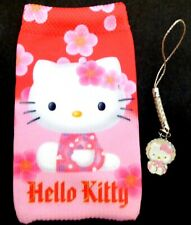 Hello Kitty mobile phone (MP3 or small camera) Sock/Pouch & phone Charm