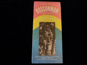 Vintage 1994 Official Roscommon County Michigan Road Map MI