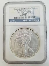 2013 (S) American Silver Eagle US Mint $1 Coin NGC MS 69 First Releases (8E)