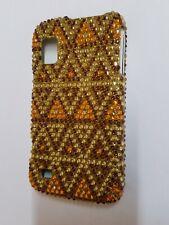Rare Ether Gold Diamond Dazzle Case Cover For Boost Mobile ZTE Warp N860 Phone