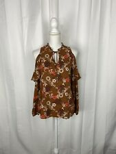 NWT Charming Charlie Ruffled Cold Shoulder Top Size S
