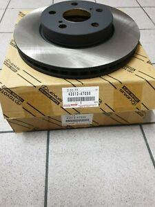 Genuine Toyota/Lexus Front Brake Discs 43512-47050 Original New Pair
