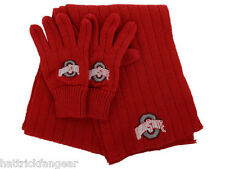 Ohio State Buckeyes Top of the World NCAA Team Logo Knit Glove & Scarf  OSFM