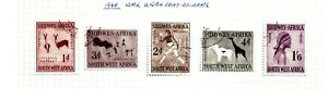 SOUTH WEST AFRICA (A7-48)1960 SG166-70 WMK 102 FULL SET OF 5 VERY FINE USED