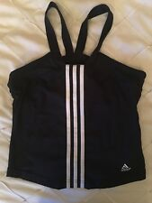 ADIDAS CLIMACOOL BLACK SPORTS TOP SIZE 10