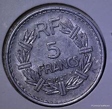 Grande piece FRANCE RF 5 francs 1947 Lavrillier alu ac07