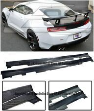 EOS ZL1 Style CARBON FIBER Side Skirts Panel Extension For 16-18 Camaro SS | RS