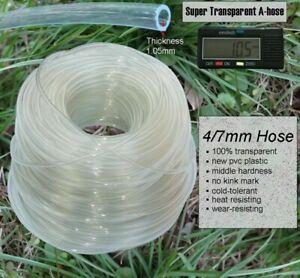 Transparent A-Hose 4/7mm PVC Garden Irrigation 1/4'' Tubing Cold Heat Resistance