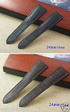 Genuine Leather Band Strap bracelet (fits) Divan CALIBRE ROTONDE DE CARTIER
