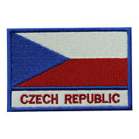 Czech Republic Country Flag Patch Iron On Patch Sew On Badge Embroidered Patch