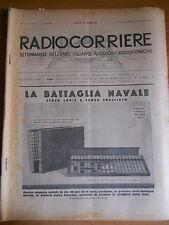 RADIOCORRIERE EIAR 1932 -  VIII N° 9 - PUBBLICITA' TELEFUNKEN E RADIOLETTE  6/17